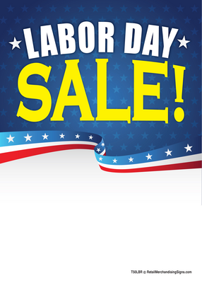 New Labor Day Poster, Banners, Tags