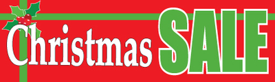 Retail Sale Banners Christmas Sale gift Seasonal