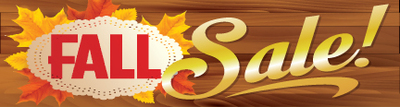 Retail Sale Banners 3' x 8' Fall Sale (wood)