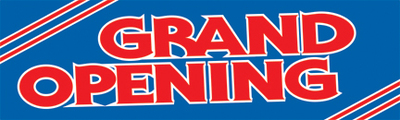 Retail Sale Banners Grand Opening blue
