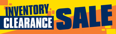 Retail Sale Banners Inventory Clearance Sale
