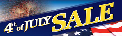 Retail Sale Banners 4th of July Sale