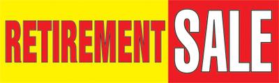 Retail Sale Banners 3 X 8 Retirement Sale