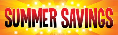 Retail Sale Banners Summer Savings