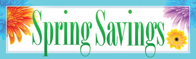 Retail Sale Banners Spring Savings (flowers)