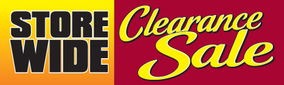 Retail Sale Banners  Storewide Clearance Sale