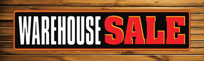 Retail Sale Banners Warehouse Sale (wood)