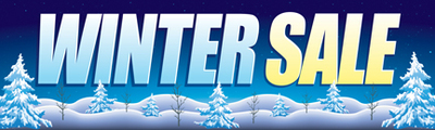 Retail Sale Banners Winter Sale trees