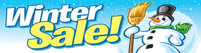 Winter Sale Banners Yellow Color Banners