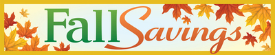Retail Store Banner 4' x  20' Fall Savings