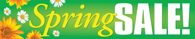 Seasonal Store Banners 4' x 20' Spring Sale (flowers)