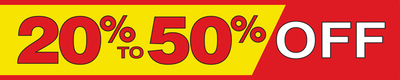 Retail Store Banner 4' x 20' 20% To 50% Off