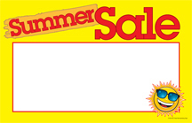 Seasonal Price Cards/Sign Cards Summer Sale