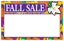 Seasonal Price Card/Sign Cards Fall Sale leaves