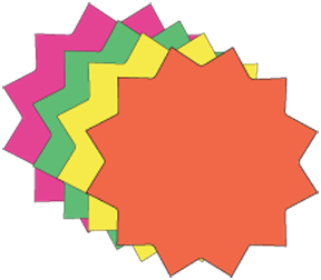 Fluorescent Star Burst Price Cards 4 colors