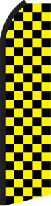 Feather Banner Flag Only 11.5' Yellow Black Checker