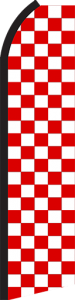 Feather Banner Flag Only 11.5' Red White Checker