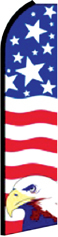 Feather Flag Banner Patriotic 11.5' U.S. Flag Eagle