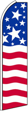 Feather Flag Banner Patriotic 11.5' U.S. Flag Stars and Stripes