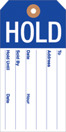 Hold Tags 2 3/8in x 4 3/4in 100 pack blue white