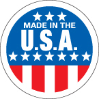 Made in the USA 2 inch label