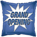 Retail Mylar Promotional Balloons 18in Square Grand Opening