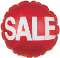 Retail Mylar Promotional Balloons 18in Round Sale