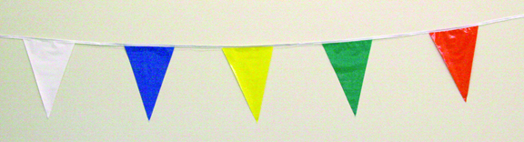 60' or 120' String Pennant multicolored