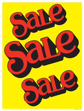"Business Store Signs Retail Sign Poster 38"" x 50"" Sale Sale Sale"