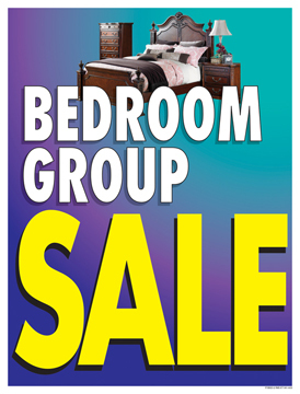 Furniture Sale Signs Posters Bedroom Group Sale