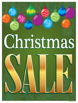 Holiday Sale Signs Posters 22 Quot X28 Quot Christmas Sale Balls