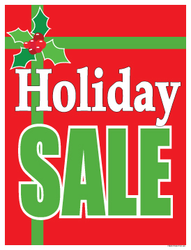 Christmas Sale Signs Posters Holiday Gift