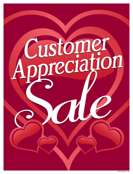 Retail Sale Signs Posters Customer Appreciation
