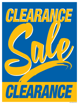 Retail Sale Signs Posters Clearance Sale