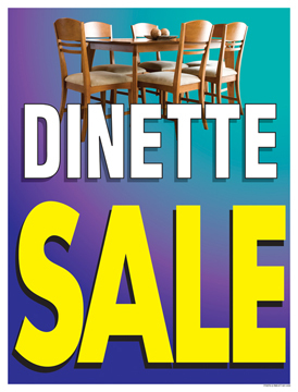 Furniture Sale Signs Posters Dinette Sale