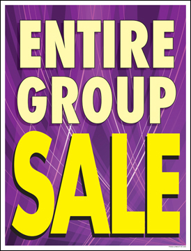 Furniture Sale Signs Posters 22in x 28in Entire Group Sale