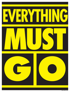 Window Poster 25 X 33 Everything Must Go