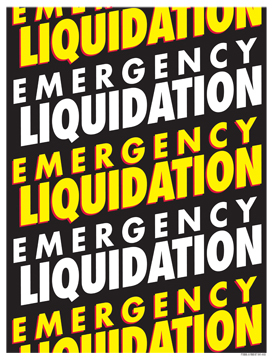 Retail Sale Signs Posters Emergency Liquidation