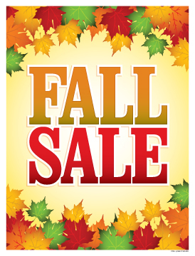 Image result for fall sale