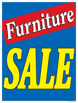 Sale Signs Posters Furniture Sale blue