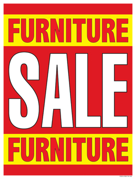 Sale Signs Posters Furniture Sale red yellow