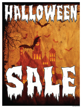 Seasonal Sale Signs Posters Halloween Sale