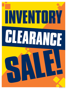 sale signs posters inventory clearance sale