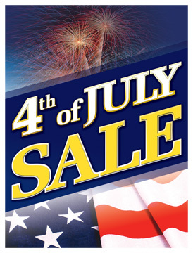 Patriotic Holiday Sale Signs Posters 4th of July Sale