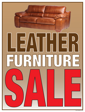 Retail Sale Signs Posters Leather Furniture Sale