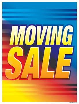 Retail Sign Poster 38'' x 50'' Moving Sale