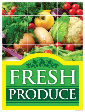 Grocery Store Poster 38 Quot X 50 Quot Fresh Produce