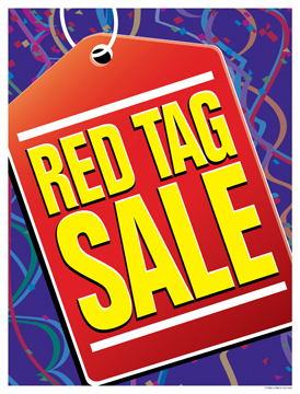 Retail Sale Signs Posters Red Tag Sale
