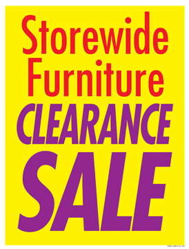 furniture sale sign. Sale Signs Posters Store Wide Furniture Clearance Sign R