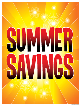 Seasonal Sale Signs Posters Summer Savings